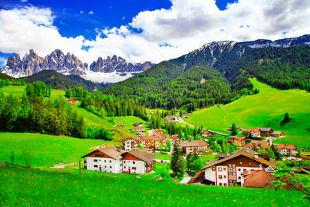Village Maddalena in Dolomites, Italian Alps