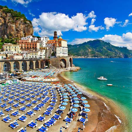 Italian holidays -Atrani . Amalfi coast of Italy Imagens