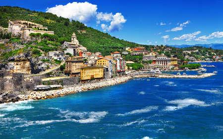 cinque terre: Portovenere , Cinque terre - ligurian coast of Italy Stock Photo