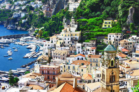 view of beautiful Amalfi. Italy