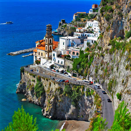 Atrani - scenic village in Amalfi coast .Italy Stock Photo