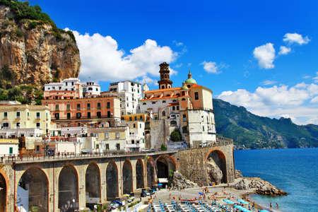 amalfi: scenic Amalfi coast. Atrani village. italy