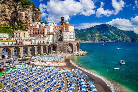 amalfi: Atrani village - view with beach, Amalfi coast