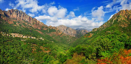lofty: breathtaking mountains of Corsica Stock Photo