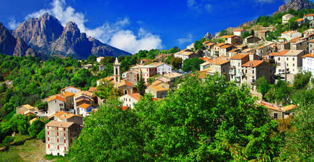 Evisa - one of the most beautoful villages of France, Corsica island Banco de Imagens