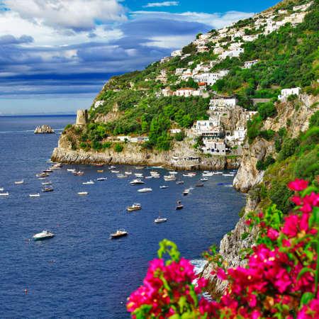 amalfi: scenic Amalfi coast,Italy