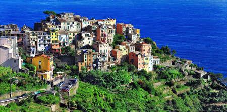 Corniglia, one of the most beautiful villages in Liguria, Italy photo