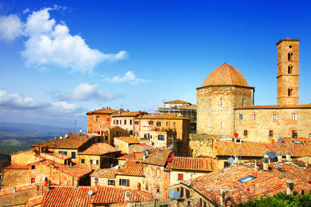 medieval Volterra in Tuscany, Italy Stock Photo