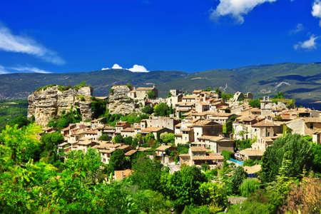 provencal: pictorial Saignon village in Provence, France