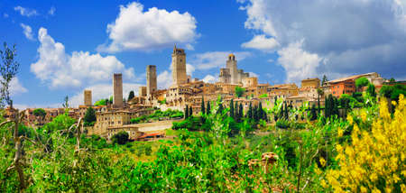 Pictorial view of San Gimignano. Italy photo