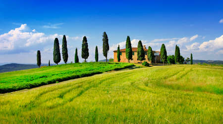 toscana: classical scenery of Tuscany, val d\ Stock Photo