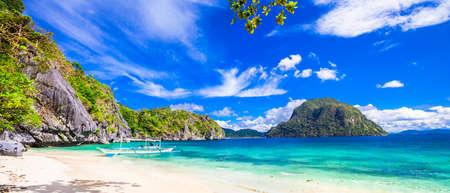 エルニド、パラワン、フィリピンで美しいビーチのパノラマ