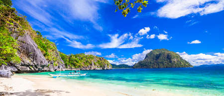 nido: panorama of beautiful beach in El Nido, Palawan, Philippines