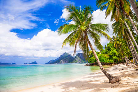 beautiful tropical beach, El Nido Palawan Stok Fotoğraf