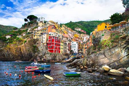 cinque terre: Riomagiore - beautiful fishing village, Cinque terre, Italy
