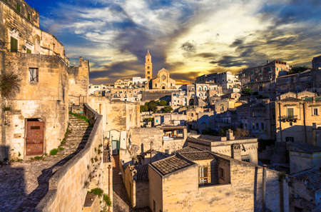 sassi: ancient cave town Matera, Basilicata, Italy