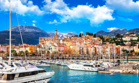 Menton - colorful town in south of France