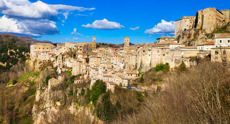 Sorano -hilltop medieval town in Tuscany , Italy photo