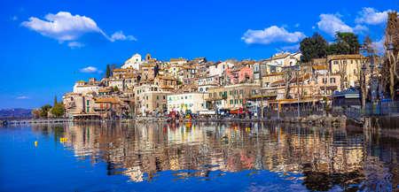 lazio: Anguillara sabazia - authentic medieval town of Italy, Lazio Stock Photo