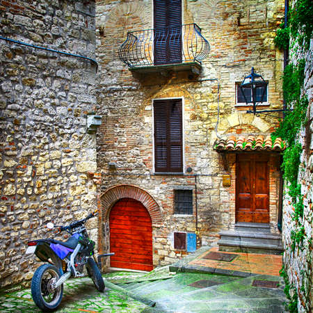 toscana: charming old streets of medieval villages