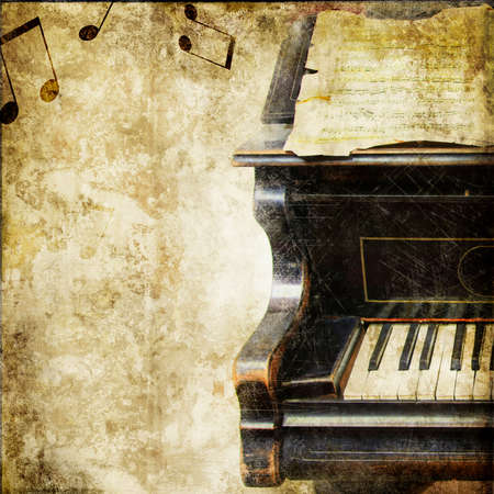old sheet music: vintage musical background Stock Photo
