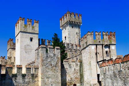 sirmione: Scaligero castle in Sirmione (Lago di garda, Italy)