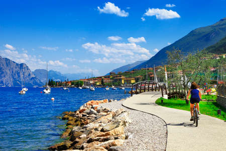 garda: vacations in beautiful lago di Garda (north Italy) Stock Photo
