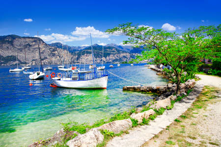garda: scenery of Lago di Garda, Italy Stock Photo