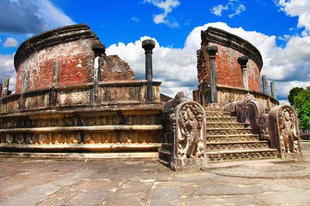 architectural heritage: Polonnaruwa - ancient temples of Sri Lanka