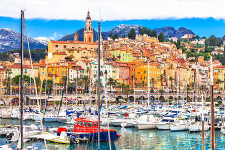 Menton - colorful town in south of France photo