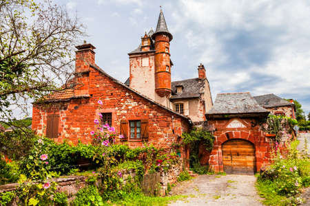 france: Collonges-la-Rouge - one of the most beautiful villages in France Stock Photo