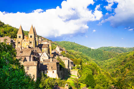 world heritage site: abbey in Conques, France (unesco site)