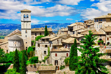 st  francis: Assisi, medieval town in Umbria - Italy Stock Photo