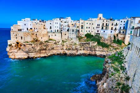 town on rocks - Polignano al mare, Puglia .Italy Banco de Imagens - 38918808