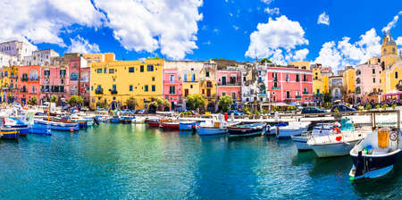 Coloré île de Procida, Italie Banque d'images - 38918830