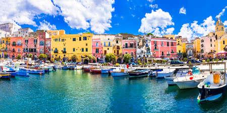 kleurrijke Procida Island, Italië Stockfoto