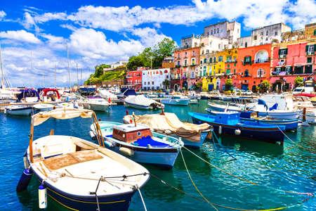 Coloré île de Procida, Italie Banque d'images - 38918834