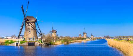 molinos de viento: molinos de viento de Holanda. Kinderdijk