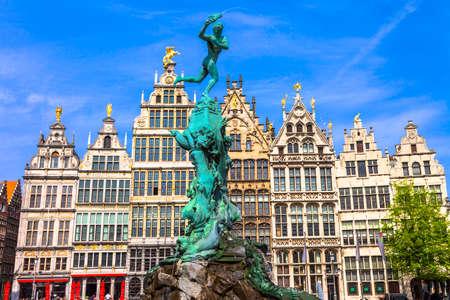 traditional Belgium Antwerpen old town