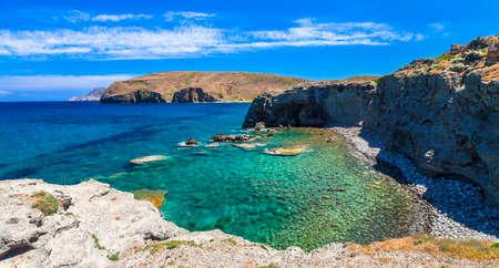beautiful wild beaches of Greece Milos island