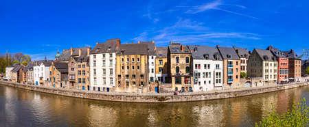 wallonie: panoramic image of Namur Belgium traditional architecture