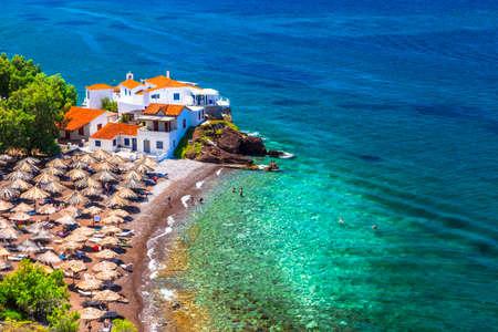 greece shoreline: beaches of Greek islands Hydra Saronic