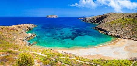 emerald beaches of Greek islands Lia. Serifos Cyclades