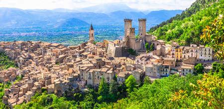 abruzzo: Pacentro beautiful medieval borgo village in Abruzzo Italy