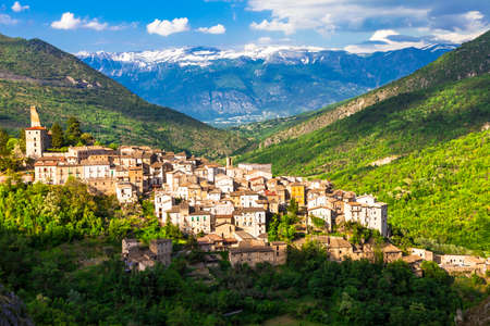 italian landscape: authentic villages of Italy. Abruzzo