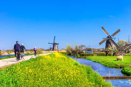activiteiten in Nederland platteland Stockfoto
