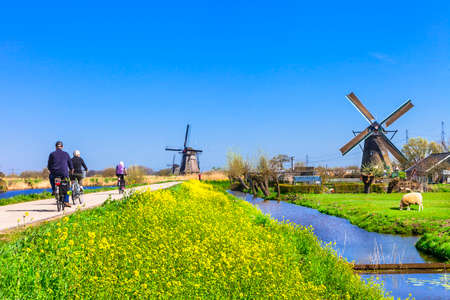 holland windmill: activities in Holland countryside