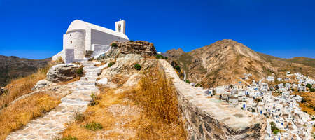 Villages of Greece Hora in Serifos island Stock Photo
