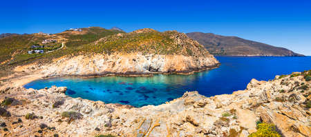 nature of Greek islands Serifos Cyclades Stock Photo