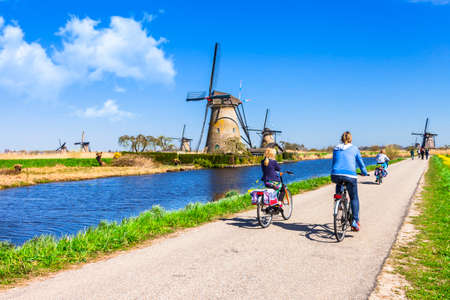 holland windmill: activities in Holland Stock Photo